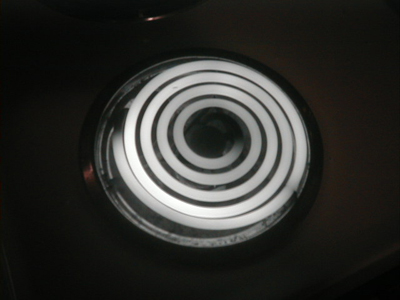 Infrared digital photograph of stove burner, 7 of 7.